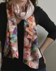 Rosy Future Silk Scarf