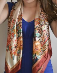 Sahara Sunsets silk scarf for sale