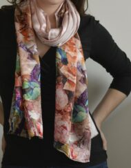 Rosy Future Silk Scarf